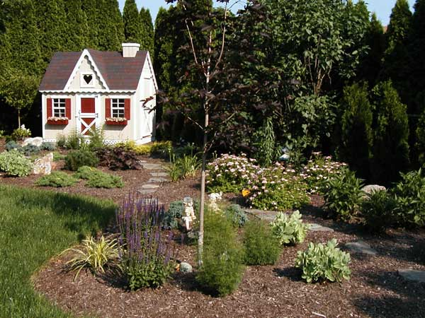 Cottage Garden Landscape Design 600 x 450